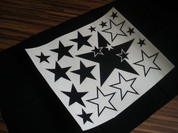 Sterne auto aufkleber styling sticker wandtattoo set - Ebay sterne ...